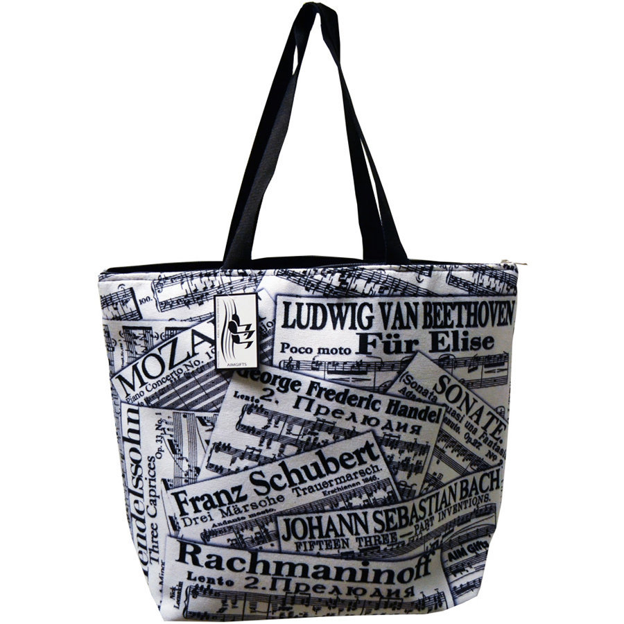 View larger image of Composer Tote Bag - White/Black