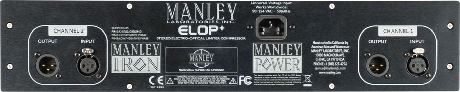 View larger image of Manley ELOP+ Dual-Channel Tube Compressor/Limiter