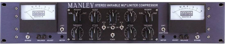 View larger image of Manley Vari-MU Compressor with M/S and T-Bar Mod