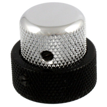 View larger image of Concentric Knob - Black and Chrome