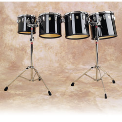 Concert Tom Drum - 8, Single Headed, Black
