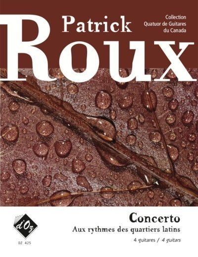 View larger image of Concerto - Aux Rythmes Des Quartiers Latins (Roux) - Guitar Quartet