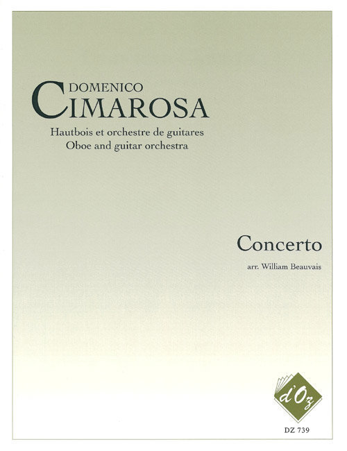 View larger image of Concerto (Cimarosa) - Guitar w/Chamber Ensemble