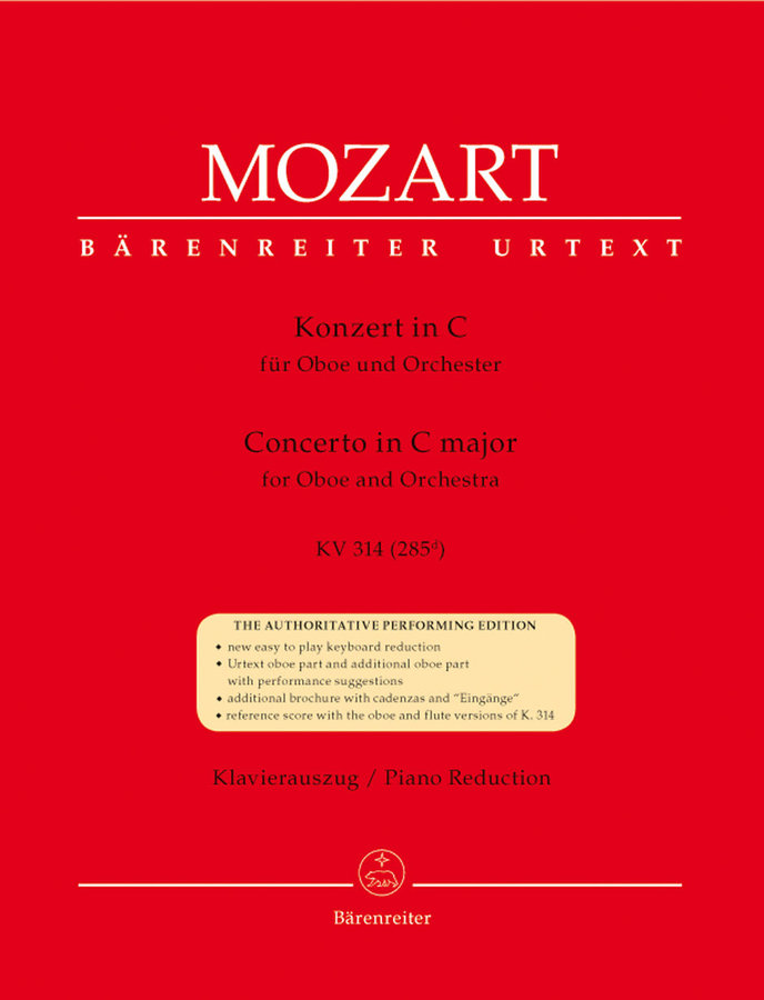 View larger image of Concerto for Oboe and Orchestra C major K.314 - (Mozart)