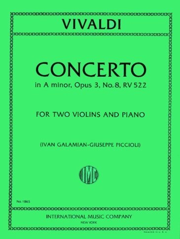 View larger image of Concerto In A (Vivaldi) - RV 522 for Two Violins