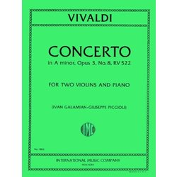 Concerto In A (Vivaldi) - RV 522 for Two Violins