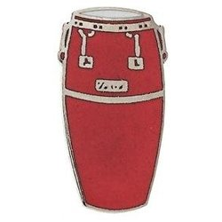 Conga Drum Pin - Red