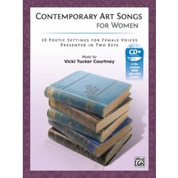 Contemporary Art Songs for Women - Voice/Piano w/CD