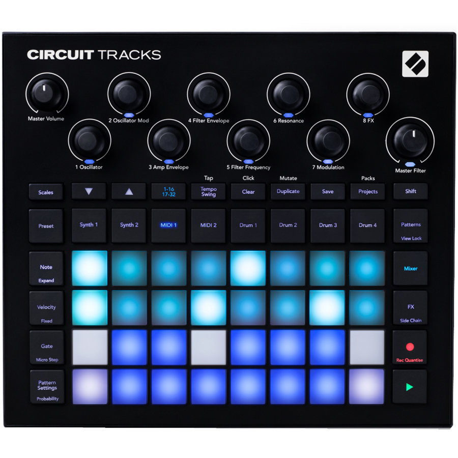 View larger image of Novation Circuit Tracks Groovebox Controller