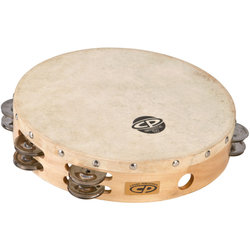 Cosmic Percussion CP380 10 Tambourine - Wood Headed with Double Row Jingles