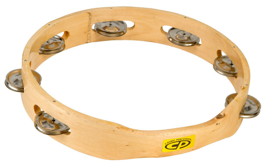 View larger image of Cosmic Percussion CP389 10 Wood Headless Tambourine with Single Jingle Rows
