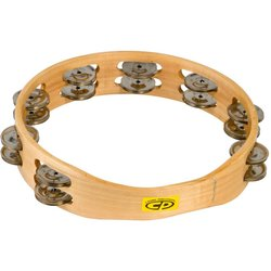 Cosmic Percussion CP390 10 Wood Headless Tambourine with Double Row Jingles