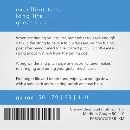View larger image of Cosmo Bass Guitar String Pack - Medium, 50-110