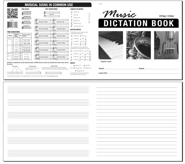 View larger image of Cosmo Music Dictation Manuscript Book (6-Stave, 20-Line, 48pg)