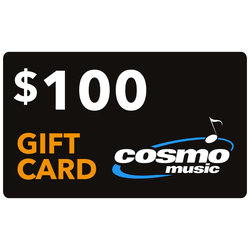 Cosmo Music Store Gift Card: $100 (not redeemable on website, in store only)