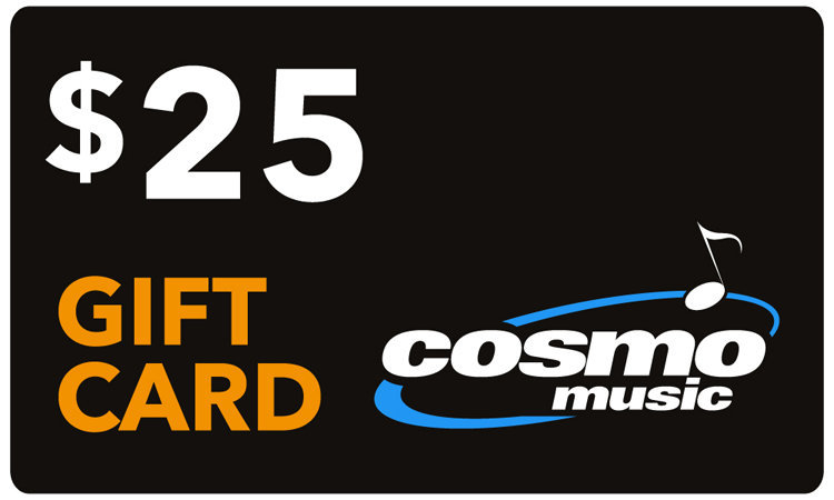 View larger image of Cosmo Music Store Gift Card: $25 (not redeemable on website, in store only)