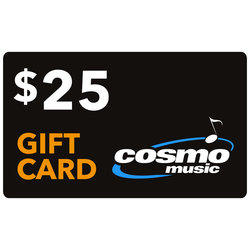 Cosmo Music Store Gift Card: $25 (not redeemable on website, in store only)