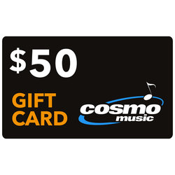 Cosmo Music Store Gift Card: $50 (not redeemable on website, in store only)