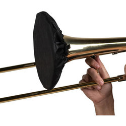 """Gator Wind Instrument Bell Cover with MERV 13 Filter - 8""""-9"""", Black,"""