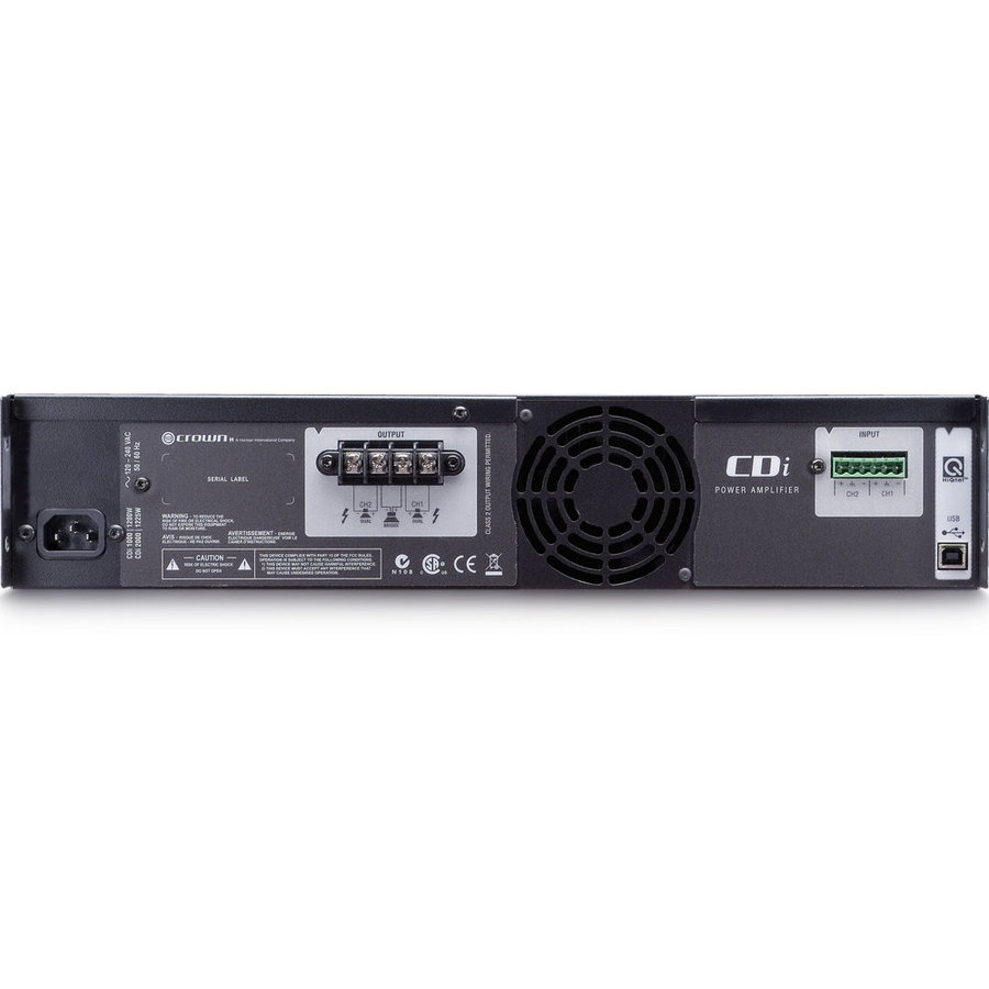 View larger image of Crown CDi 1000 Power Amp