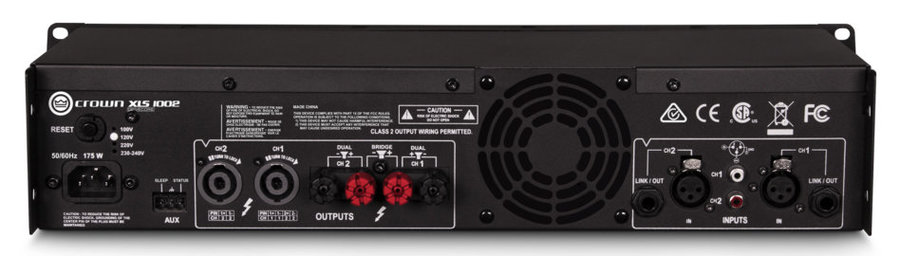 View larger image of Crown XLS 1002 Two-Channel Power Amplifier