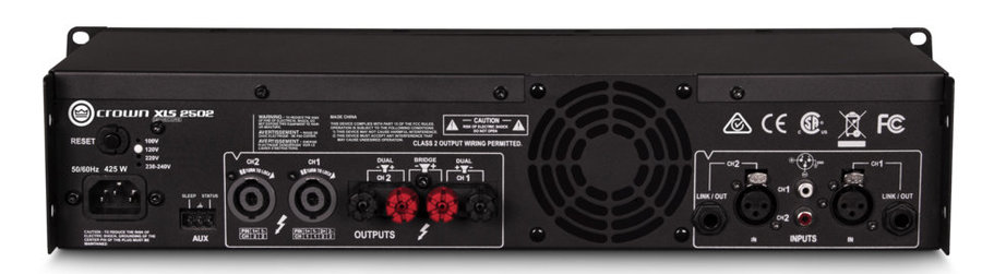 View larger image of Crown XLS 2502 Two-Channel Power Amplifier