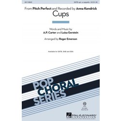 Cups (from Pitch Perfect),SATB Parts