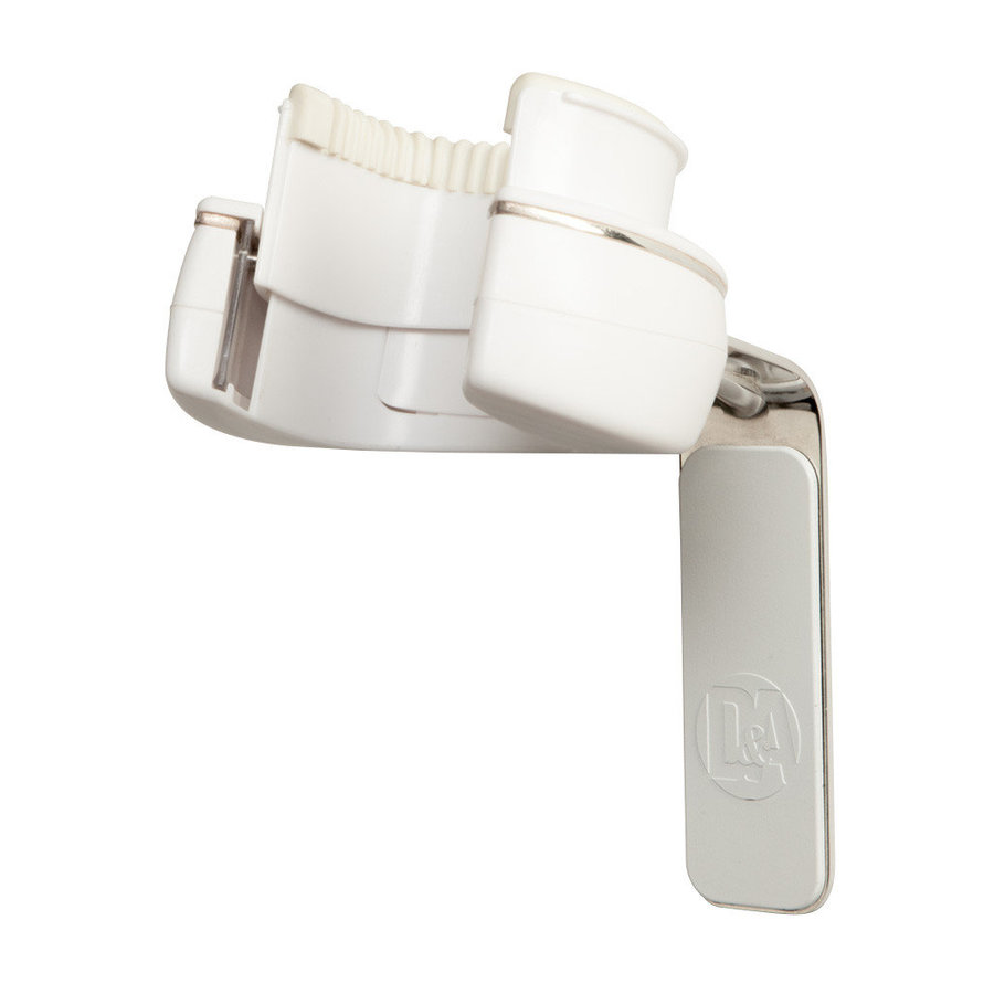 View larger image of D&A HEADLOCK Active Wall Guitar Hanger - Chrome/White