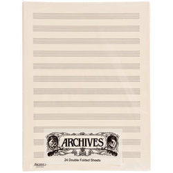 D'Addario Archives Double-Folded Manuscript Sheets - 12 Stave, 24 Sheets