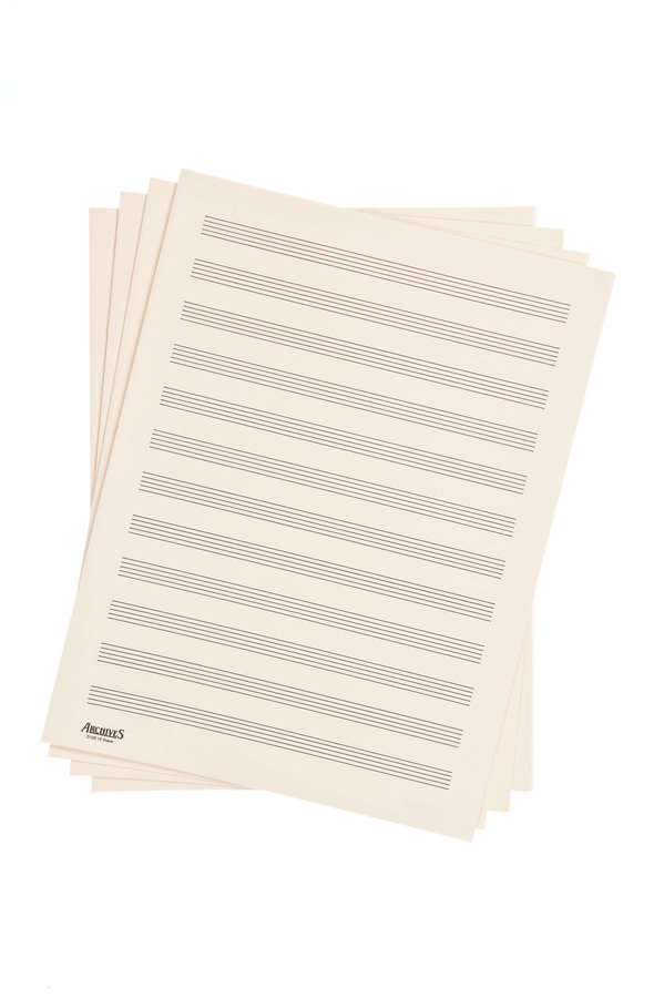 View larger image of D'Addario Archives Double-Folded Manuscript Sheets - 12 Stave, 24 Sheets