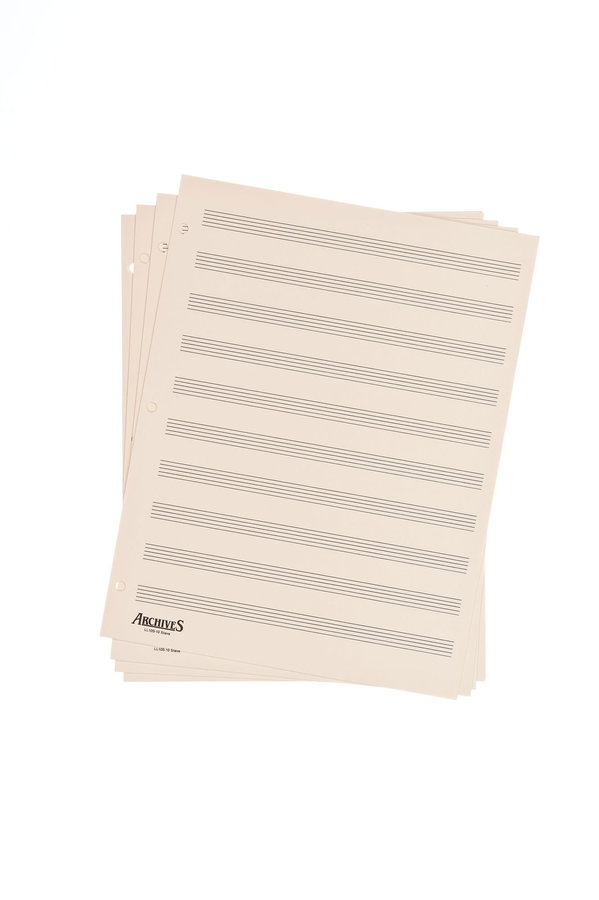 View larger image of D'Addario Archives Looseleaf Manuscript Paper - 12 Stave, 50 Pages