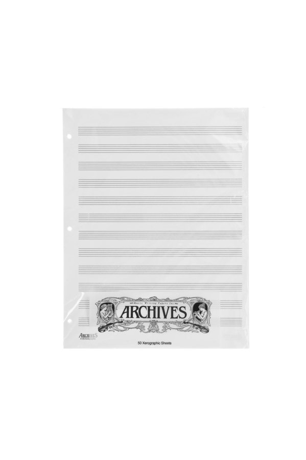 View larger image of D'Addario Archives Looseleaf Xerographic Manuscript Paper - 12 Stave, 50 Pages