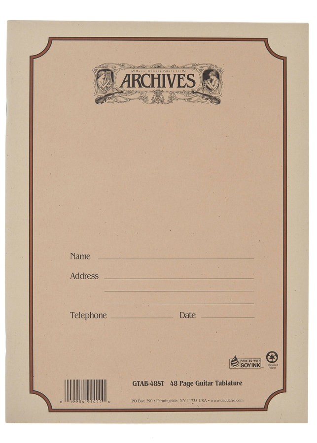 View larger image of D'Addario Archives Manuscript Book - Guitar Tab, 48 Page
