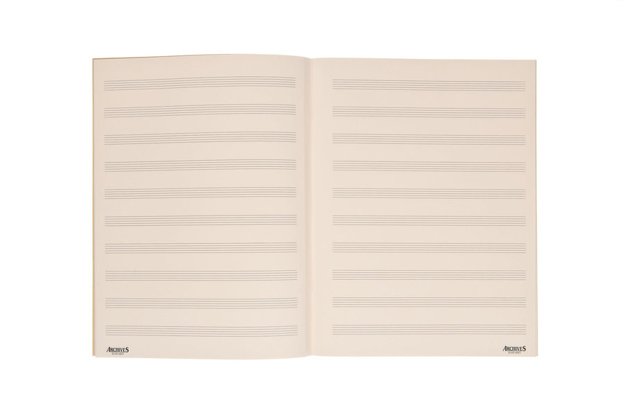 View larger image of D'Addario Archives Spiral Bound Manuscript Book - 10 Stave, 96 Page