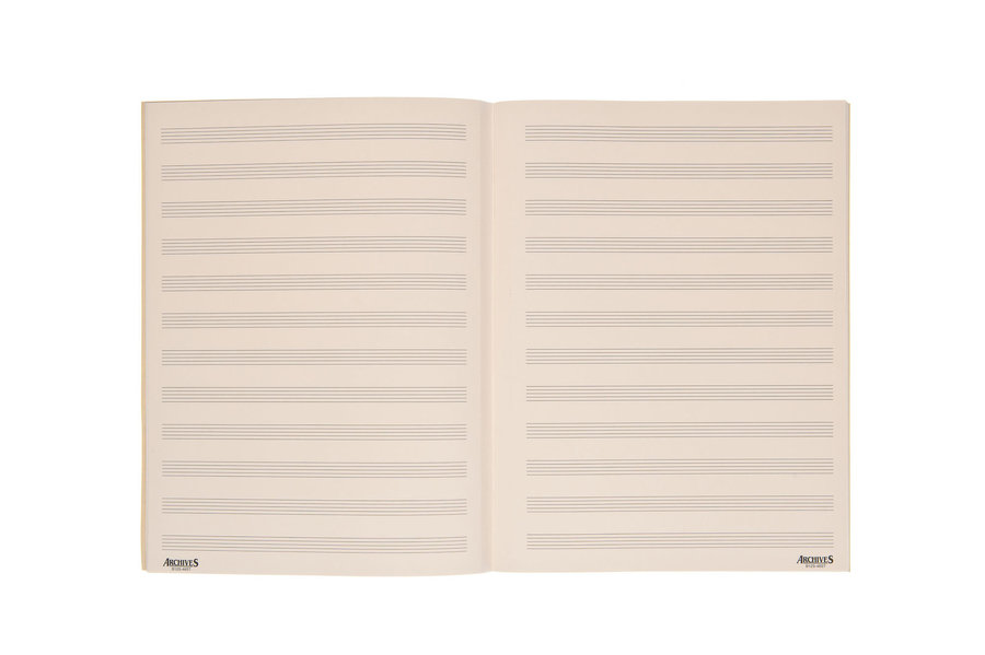 View larger image of D'Addario Archives Stitch Bound Manuscript Book - 12 Stave, 48 Page