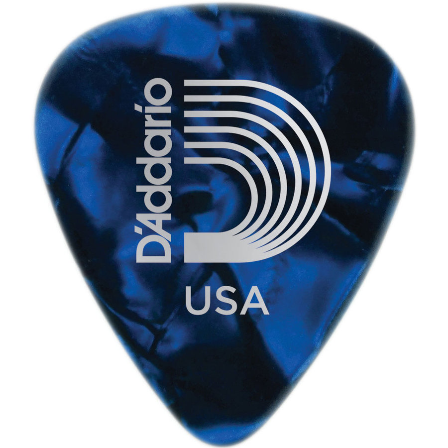 View larger image of D'Addario Blue Pearl Celluloid Guitar Picks - Heavy, 100 Pack