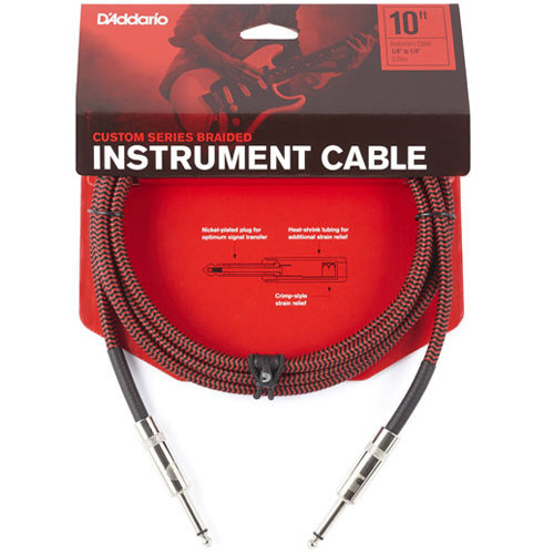 View larger image of D'Addario Braided Instrument Cable - 10', Red