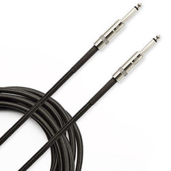 D'Addario Braided Instrument Cable - 15', Black