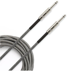 D'Addario Braided Instrument Cable - 15', Grey