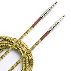 D'Addario Braided Instrument Cable - 15', Tweed
