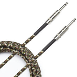 D'Addario Braided Instrument Cable - 20', Camouflage