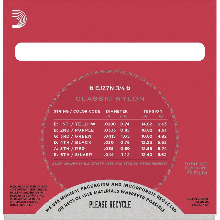 View larger image of D'Addario Classical Nylon Strings Set - 3 Pack