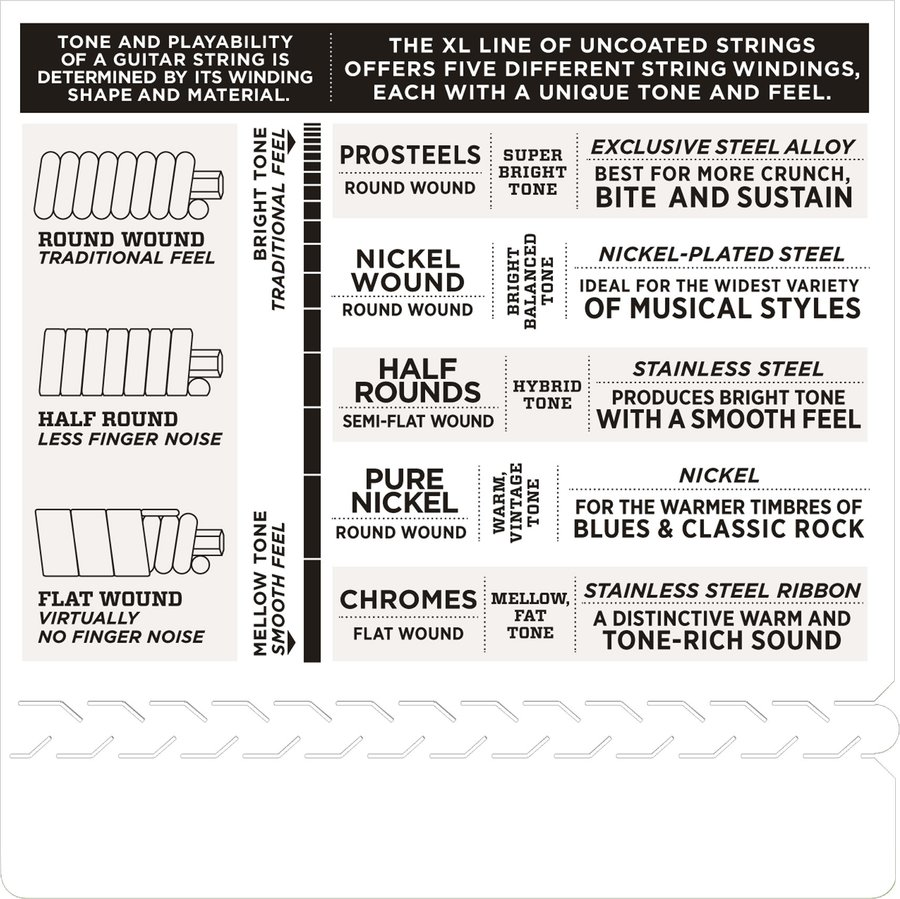 View larger image of D'Addario EHR370 Stainless Steel Half Rounds Electric Guitar Strings - Medium 11-49