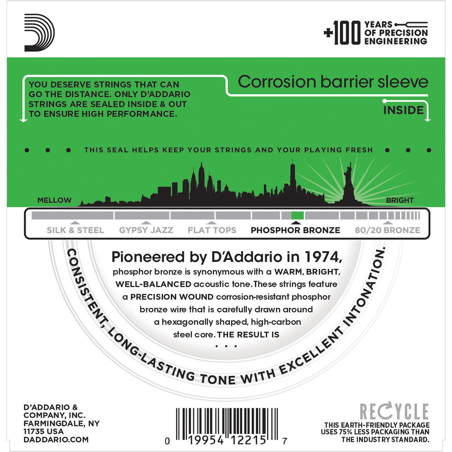 View larger image of D'Addario EJ18 Phosphor Bronze Acoustic Guitar Strings - Heavy, 14-59