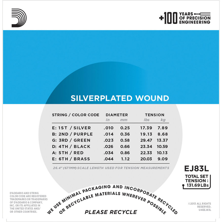 View larger image of D'Addario EJ83L Gypsy Jazz Guitar Strings - Ball End, Light, 10-44