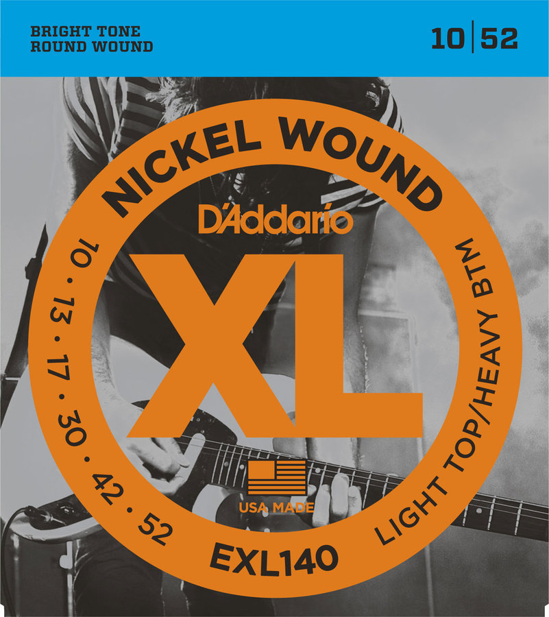 View larger image of D'Addario EXL140 Nickel Wound Electric Guitar Strings - Light Top /Heavy Bottom 10-52