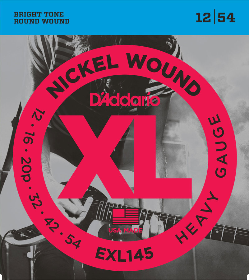 View larger image of D'Addario EXL145 Nickel Wound Electric Guitar Strings - 12-54, Heavy