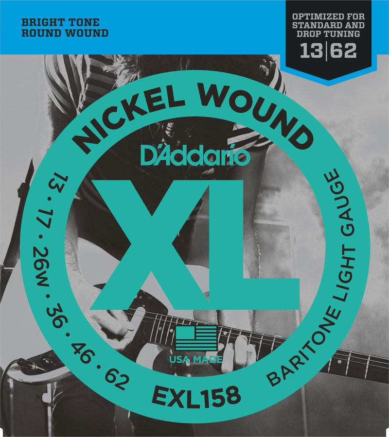 View larger image of D'Addario EXL158 Nickel Wound Electric Guitar Strings - Baritone Light 13-62