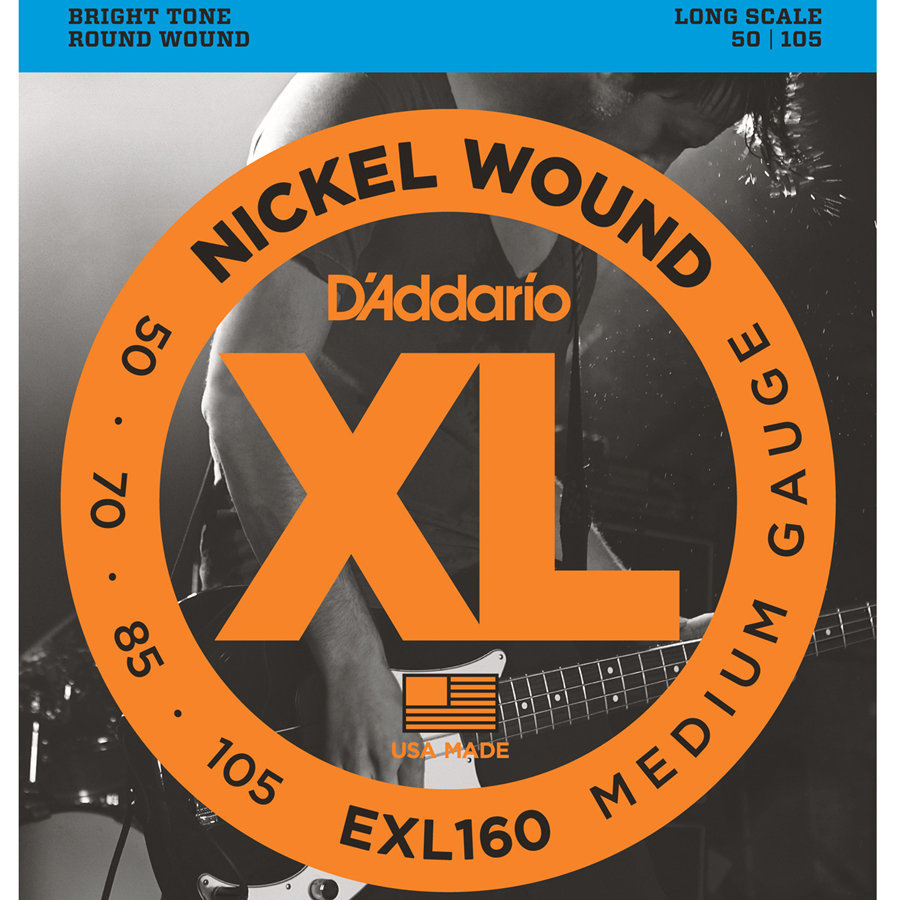 View larger image of D'Addario EXL160 Nickel Wound Bass Guitar Strings - Medium 50-105, Long Scale