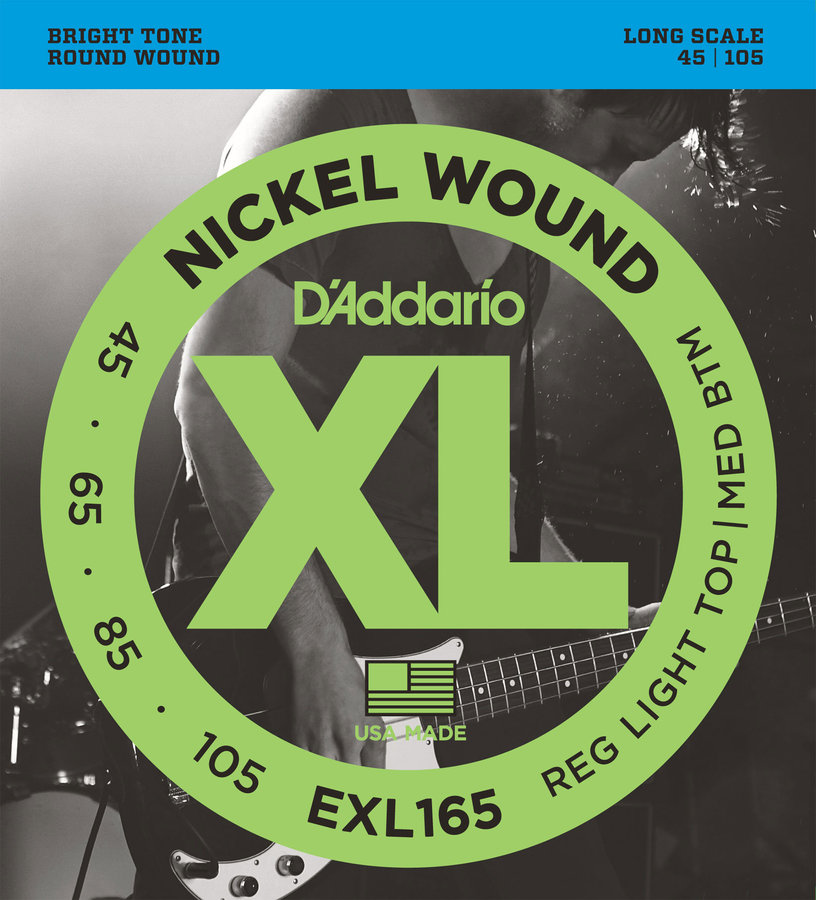 View larger image of D'Addario EXL165 Nickel Wound Bass Guitar Strings - Custom Light 45-105, Long Scale